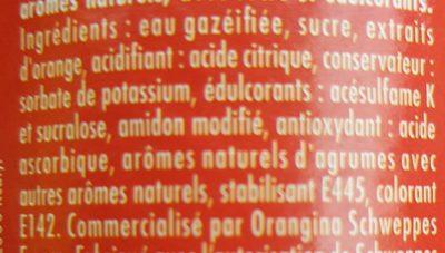 Schweppes Agrum' - Ingredients - fr