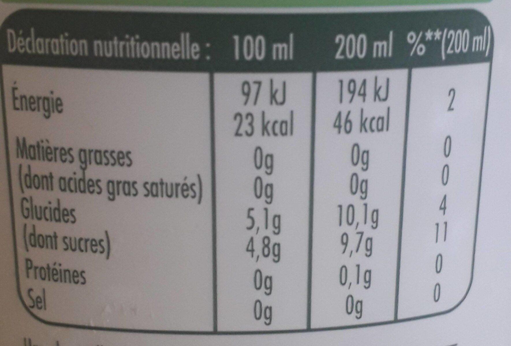 Citronnade Pulco citron - Informations nutritionnelles - fr