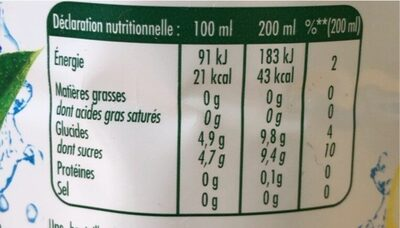 Citronnade Pulco citron - Nutrition facts - fr