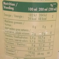 Pulco citronnade - Nutrition facts