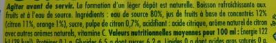 Pulco citronnade citron&citron vert - Ingredients