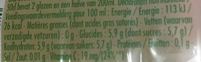 Pulco citronnade citron&citron vert - Nutrition facts