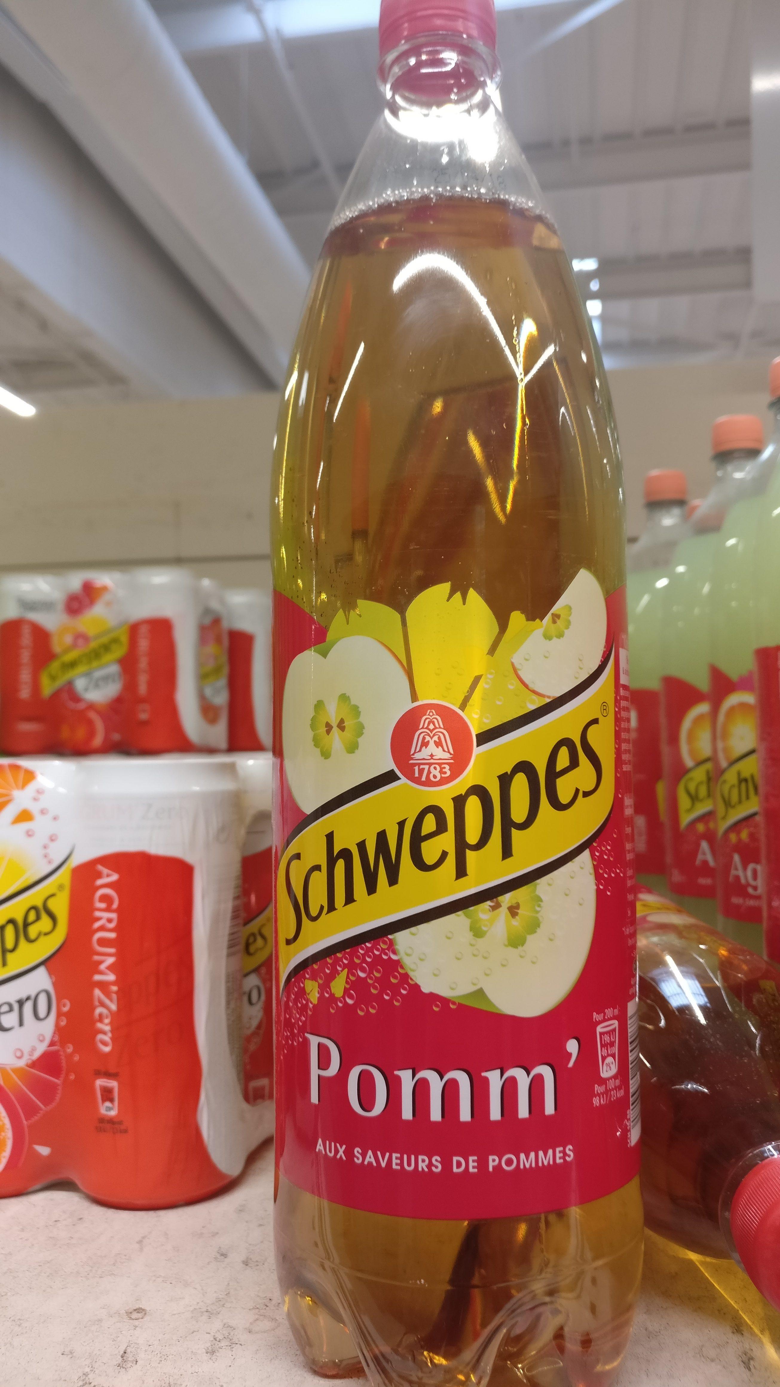Schweppes Pomm', aux saveurs de  pommes - Product - fr