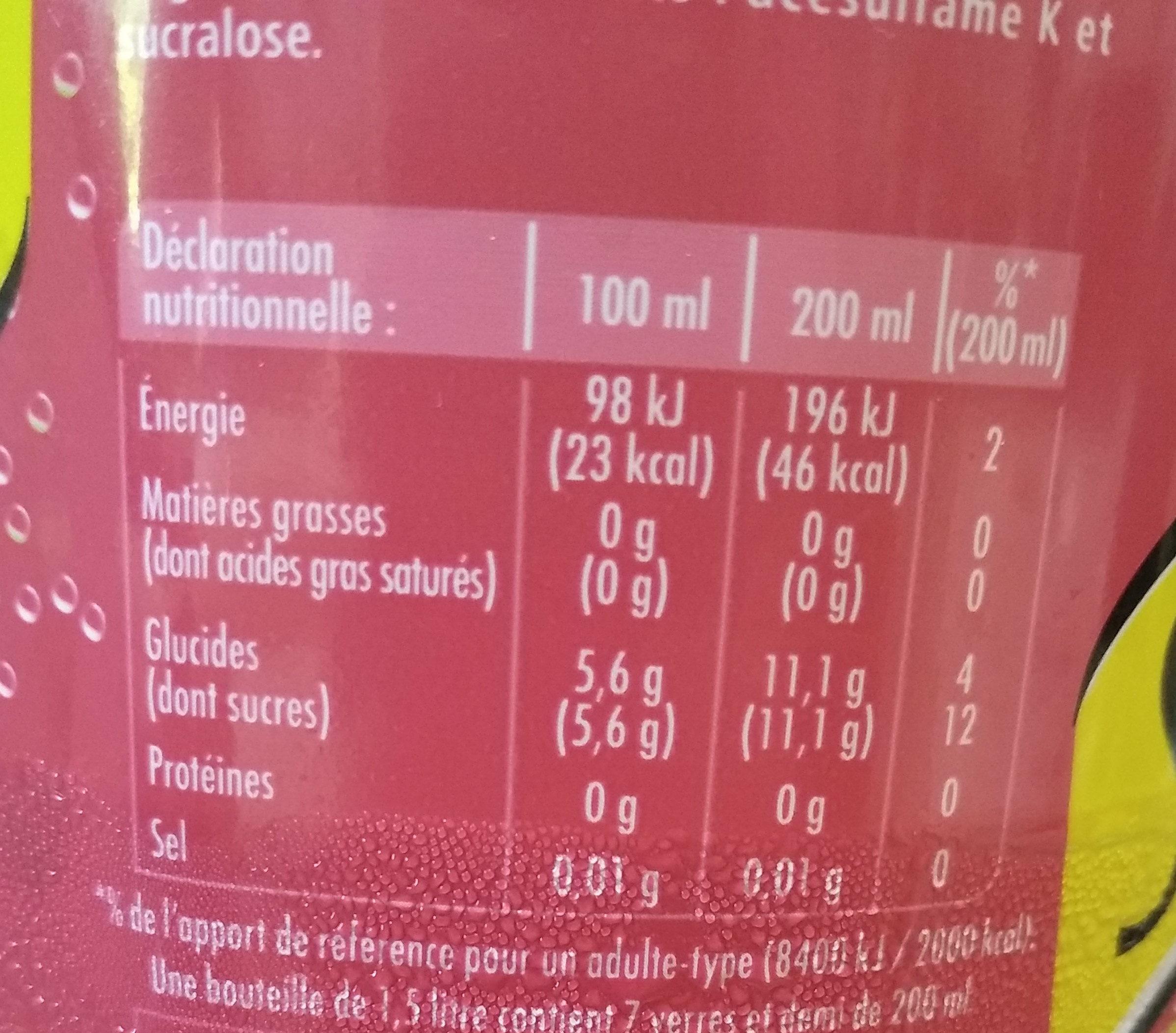 Schweppes Pomm', aux saveurs de  pommes - Voedingswaarden - fr