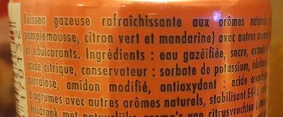 Schweppes Agrum' - Ingredients