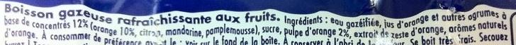 orangina et sa pulpe - Ingrédients - fr