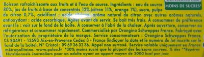 Pulco Citronnade - Ingrediënten - fr