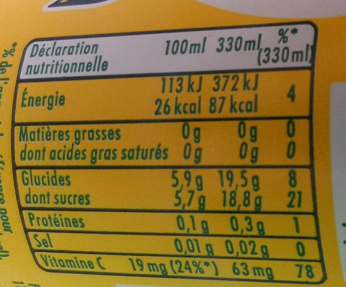 Pulco Citronnade - Voedingswaarden - fr