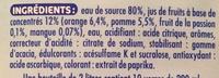 Oasis Zéro Tropical - Ingrediënten - fr