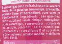 Schweppes Passion - Ingrédients