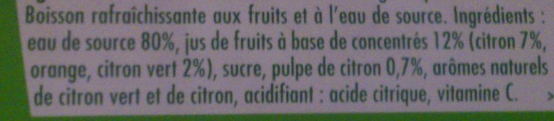 Citronnade Citron & Citron vert - Ingrediënten - fr