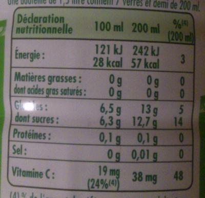 Citronnade Citron & Citron vert - Voedingswaarden - fr