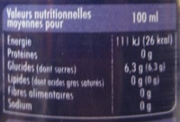 Schweppes Mûre - Informations nutritionnelles - fr
