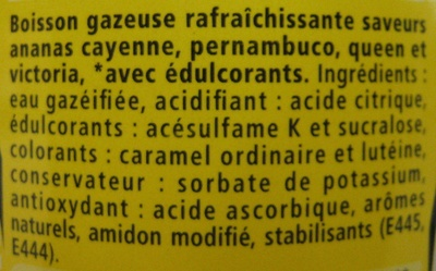 Schweppes Zero Ananas - Ingrediënten