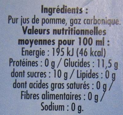 Jus de pomme pétillant Champomy (pack de 2) - Ingredients - fr
