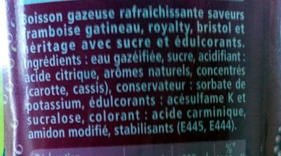 Schweppes Framboise - Ingredients - fr