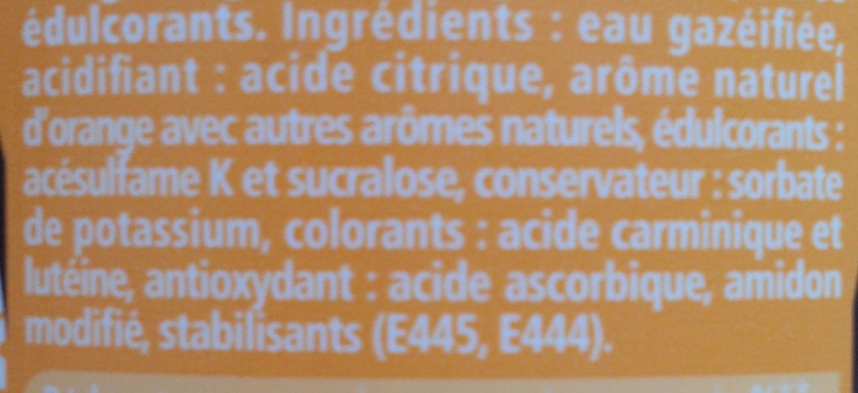 Schweppes Zero Exotic - Ingredients - fr