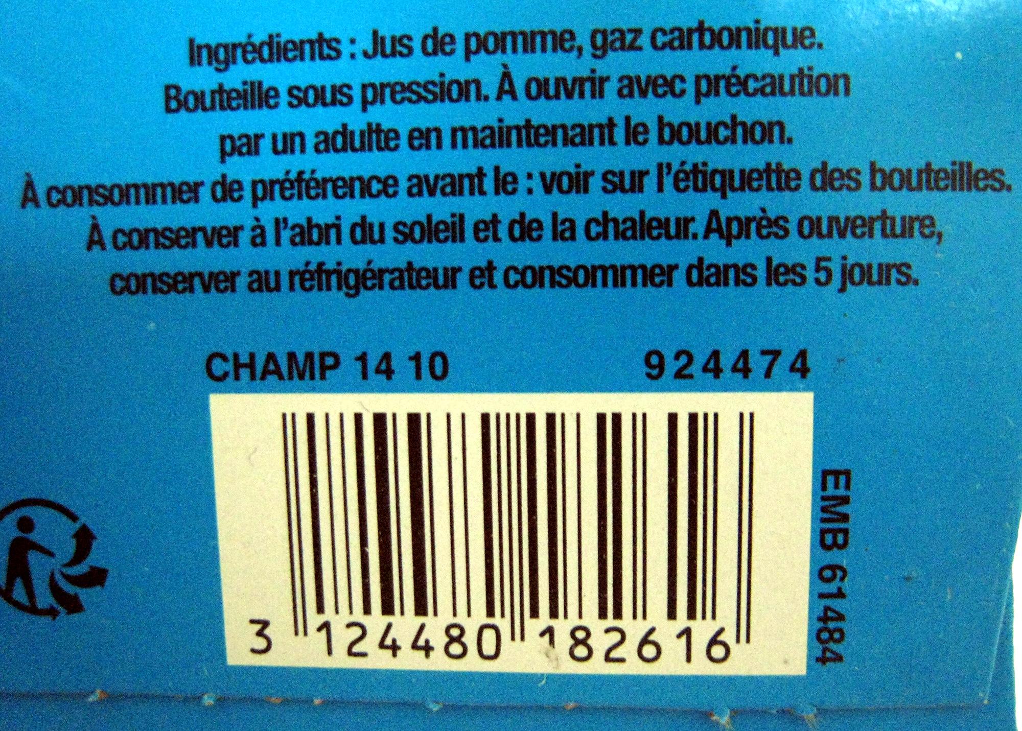 Jus de pomme pétillant (lot de 2) Champomy - Ingrediënten - fr