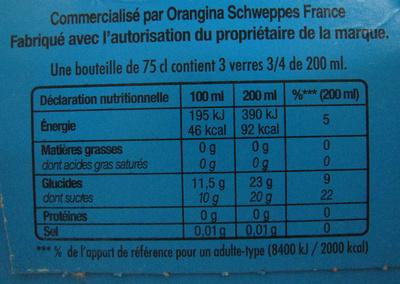 Jus de pomme pétillant (lot de 2) Champomy - Voedingswaarden - fr