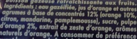 Orangina et sa pulpe - Ingrédients