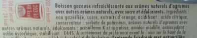Schweppes Agrum' - Ingrediënten
