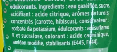 Schweppes cherry aux saveurs de cerise - Ingredients - fr