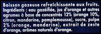 Orangina Édition Limitée Rugby - Ingrédients