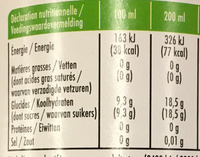 Virgin Mojito - Nutrition facts - fr
