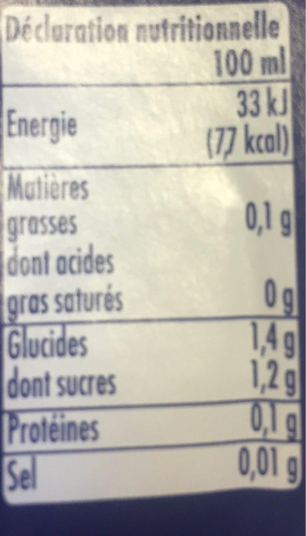 Orangina Zero - Voedingswaarden - fr