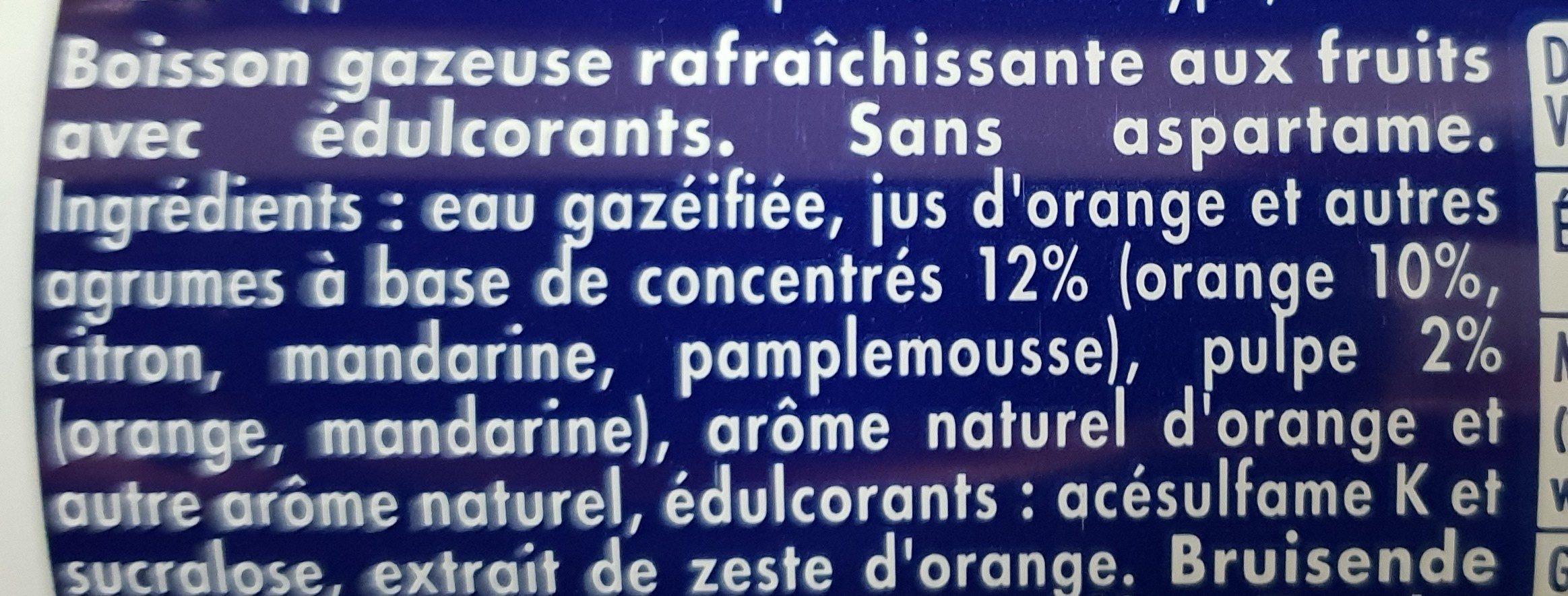 Orangina zero slim - Ingrediënten