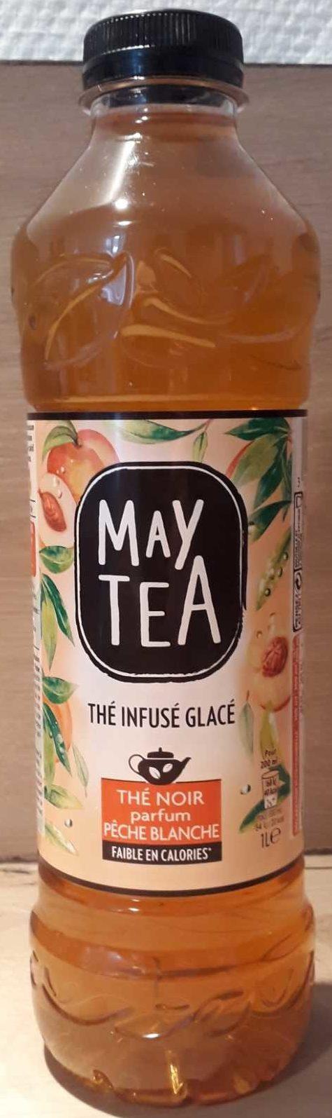 Thé infusé glacé, Thé noir parfum pêche blanche - Product