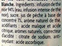 Thé noir parfum pêche blanche - Ingredients - fr