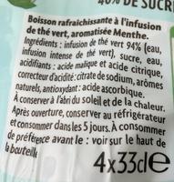 Thé Infusé Glacé - Ingrédients - fr