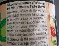 Thé noir parfum pèche blanche - Ingredientes