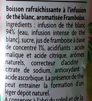 Thé infusé glacé, Thé blanc parfum framboise - Ingredients