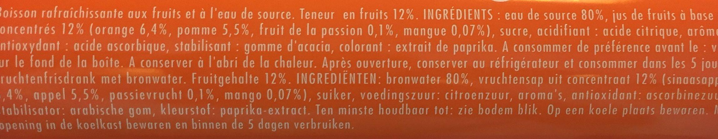 Oasis tropical - Ingredienti - fr