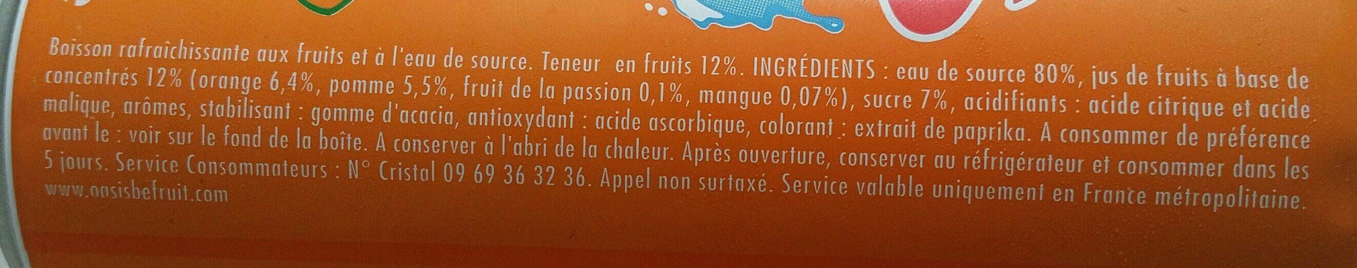 Oasis tropical - Ingrediënten - fr