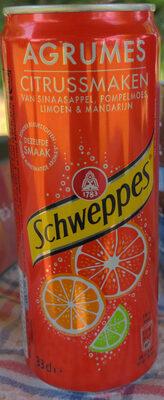 Schweppes agrumes aux saveurs d'orange,🍊de pamplemousse, de citron vert & de mandarine - Product - fr