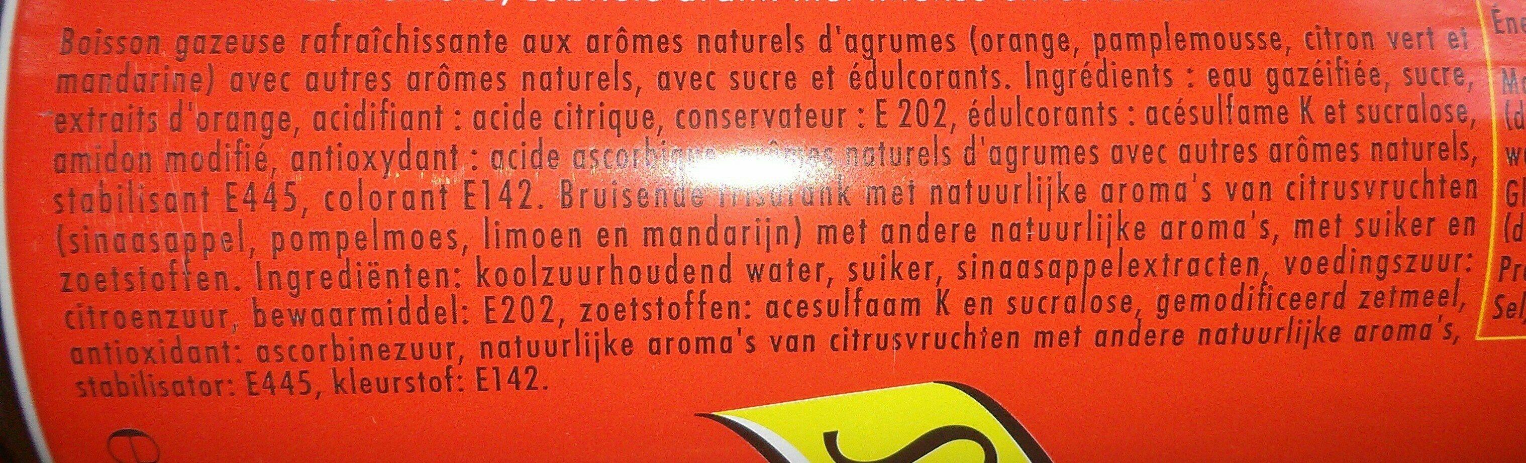 Schweppes agrum' - Ingrediënten - fr