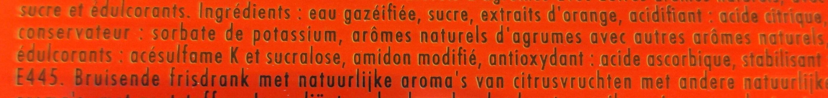 Schweppes agrumes aux saveurs d'orange,🍊de pamplemousse, de citron vert & de mandarine - Ingredients - fr