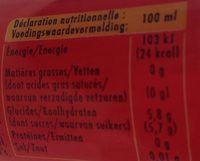 Schweppes Agrum - Nutrition facts - fr