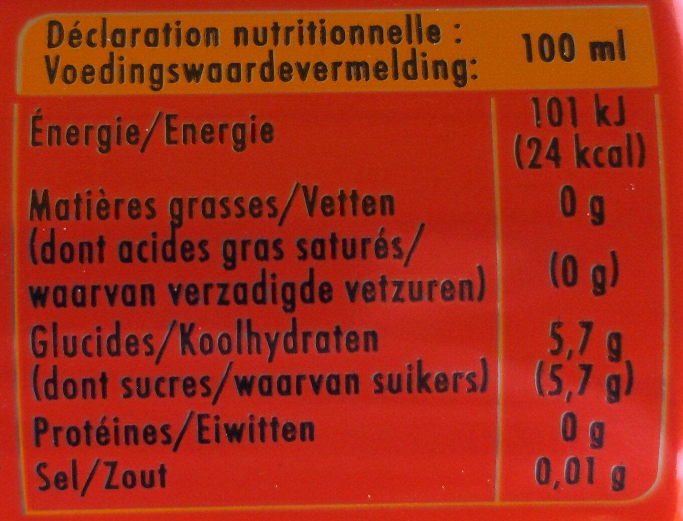 Schweppes agrumes aux saveurs d'orange,🍊de pamplemousse, de citron vert & de mandarine - Nutrition facts - fr