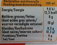 Agrum Zero - Informations nutritionnelles