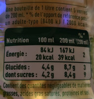 Pulco fines bulles Citron Citron vert - Informations nutritionnelles