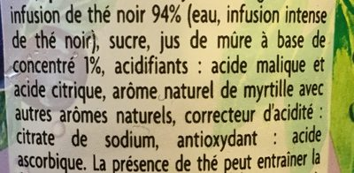 May Tea mûre myrtille - Ingredienti - fr