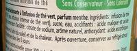 Thé Vert parfum Menthe - Ingrédients - fr