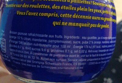 Bouteille Orangina 25cl - Ingrédients - fr