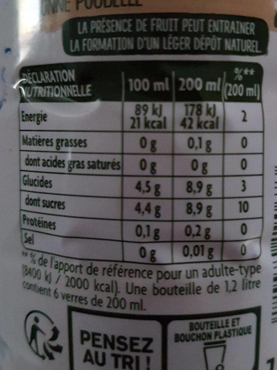 O'Verger Pomme-Mûre-Cassis - Voedingswaarden - fr