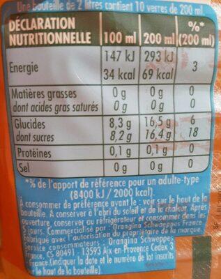 Oasis tropical - Informations nutritionnelles - fr