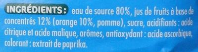 Orange à l'eau de source - Ingredienti - fr